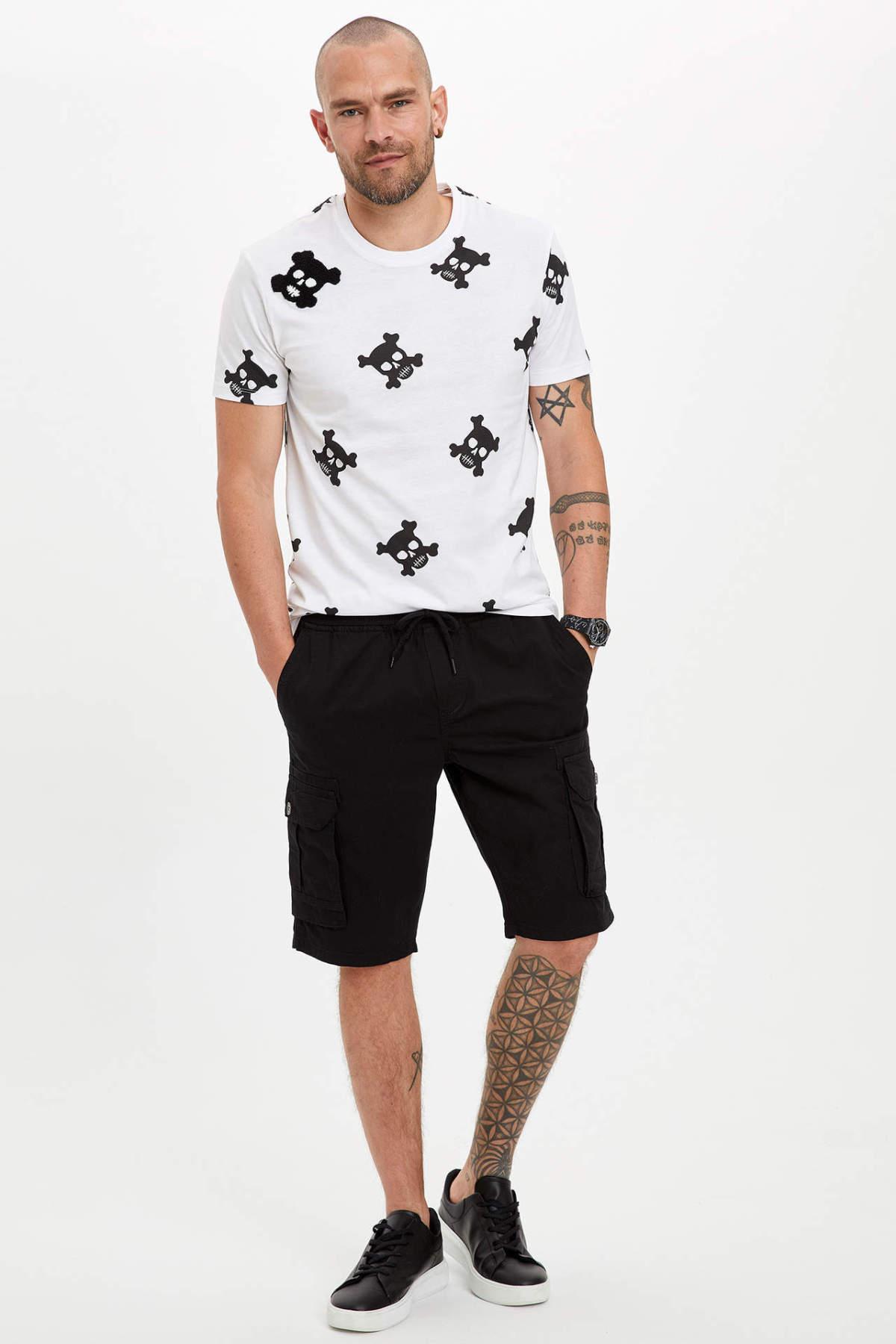 DeFacto New Fashion Men Kargo Regular Fit Men's Casual Comfortable Short Pants Summer Black - N8607AZ20SP