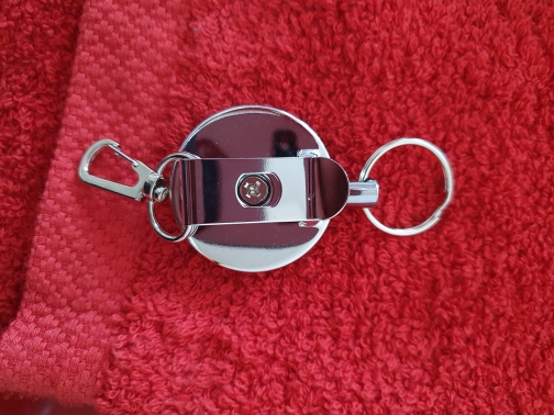 Resilience Steel Wire Rope Elastic Keychain Sporty Retractable Alarm Key chain Anti-lost telescopic photo review
