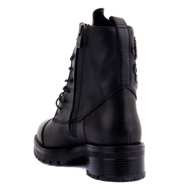 Sail-Lakers Black Leather, Zipper, Women's Postal Boots