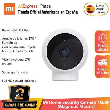 Mi Home Security Camera 1080P Smart (Montaje magnético) 170° Wi-Fi Micrófono de...