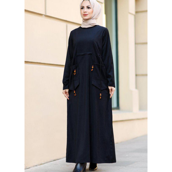 Velour Dress Muslim Clothing Women's Clothing European Clothes Dress Tunic Robe Femmes 3abaya Moroccan tagine autumn Garment Eid image