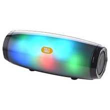 цена на Portable Wireless Speaker Bluetooth V5.0 Stereo Sound Speaker Wireless Deep Bass with Colorful LED Light – Black