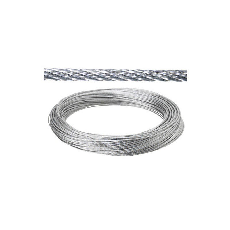 Galvanized Cable 5mm. (Roll 25 Meters) Not Lift