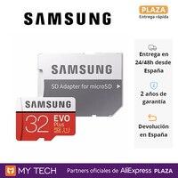 Tarjeta de memoria SAMSUNG EVO PLUS 32GB, 64Gb, 128GB, 256GB y 512GB, escritura 90MB/s – lectura 100MB/s, microSD