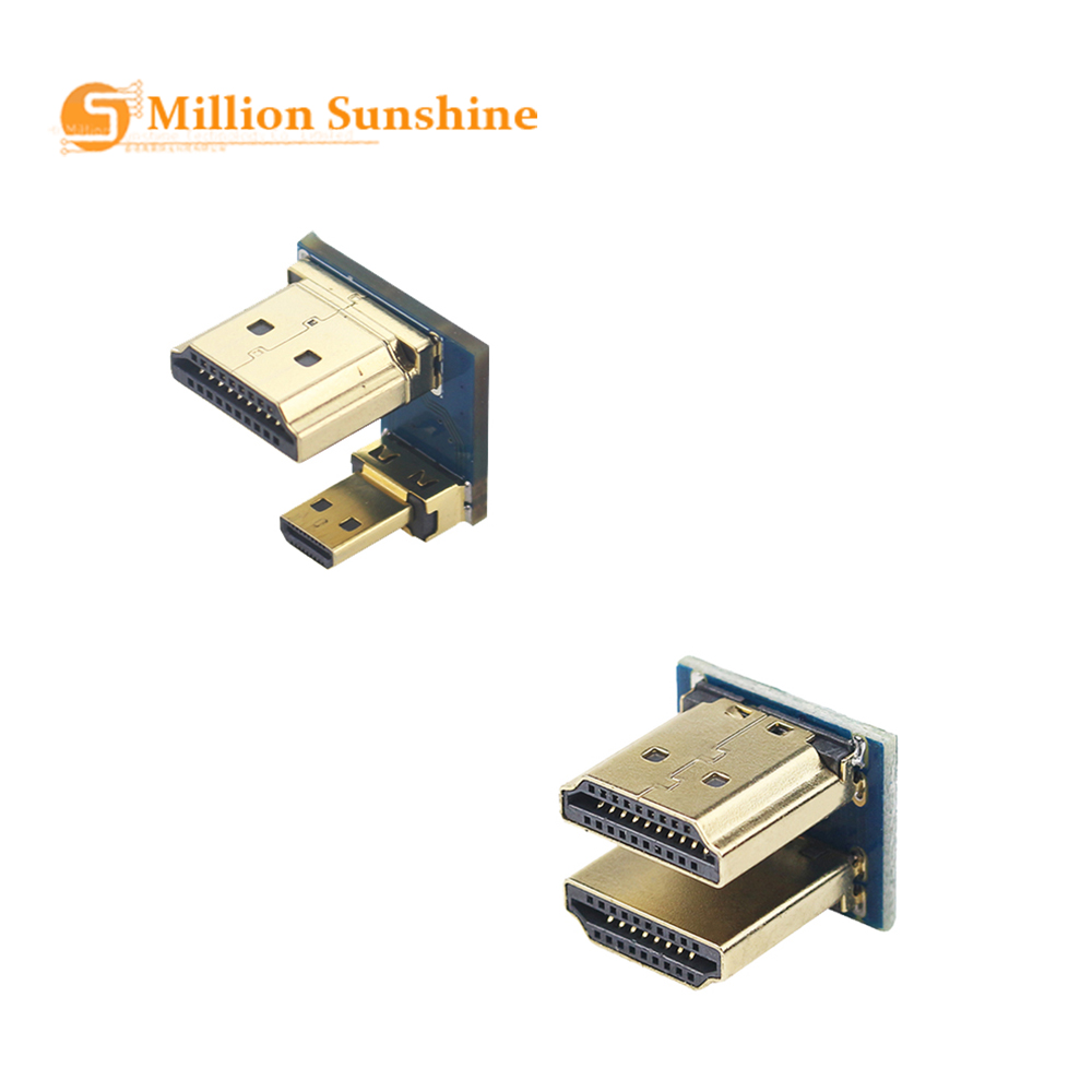 1080P HDMI To Micro HDMI Converter Male To Male Adapter For Raspberry Pi 3/4 HDMI LCD Touchscreen Display RPI133