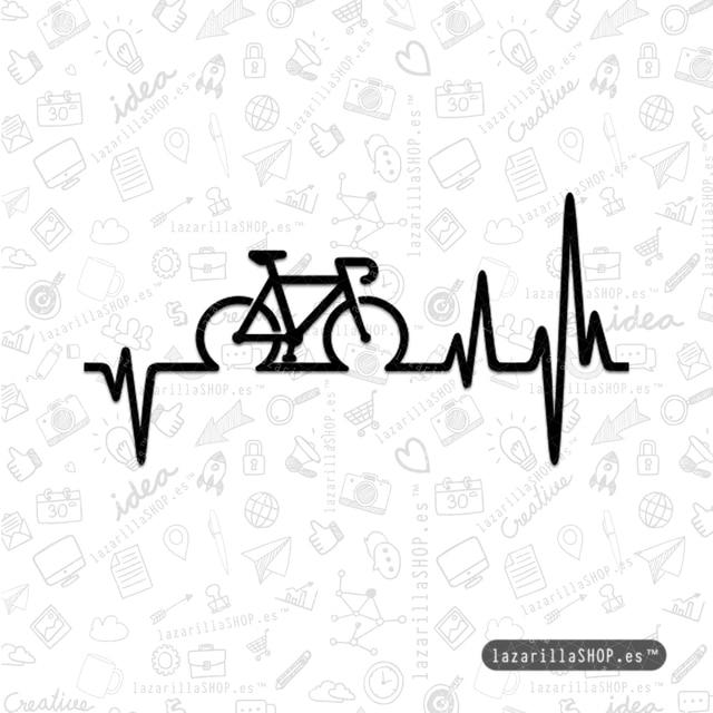 CARDIOBIKE 1,5M UNA VIDA Pegatinas bici ciclismo bicicleta coche BTT