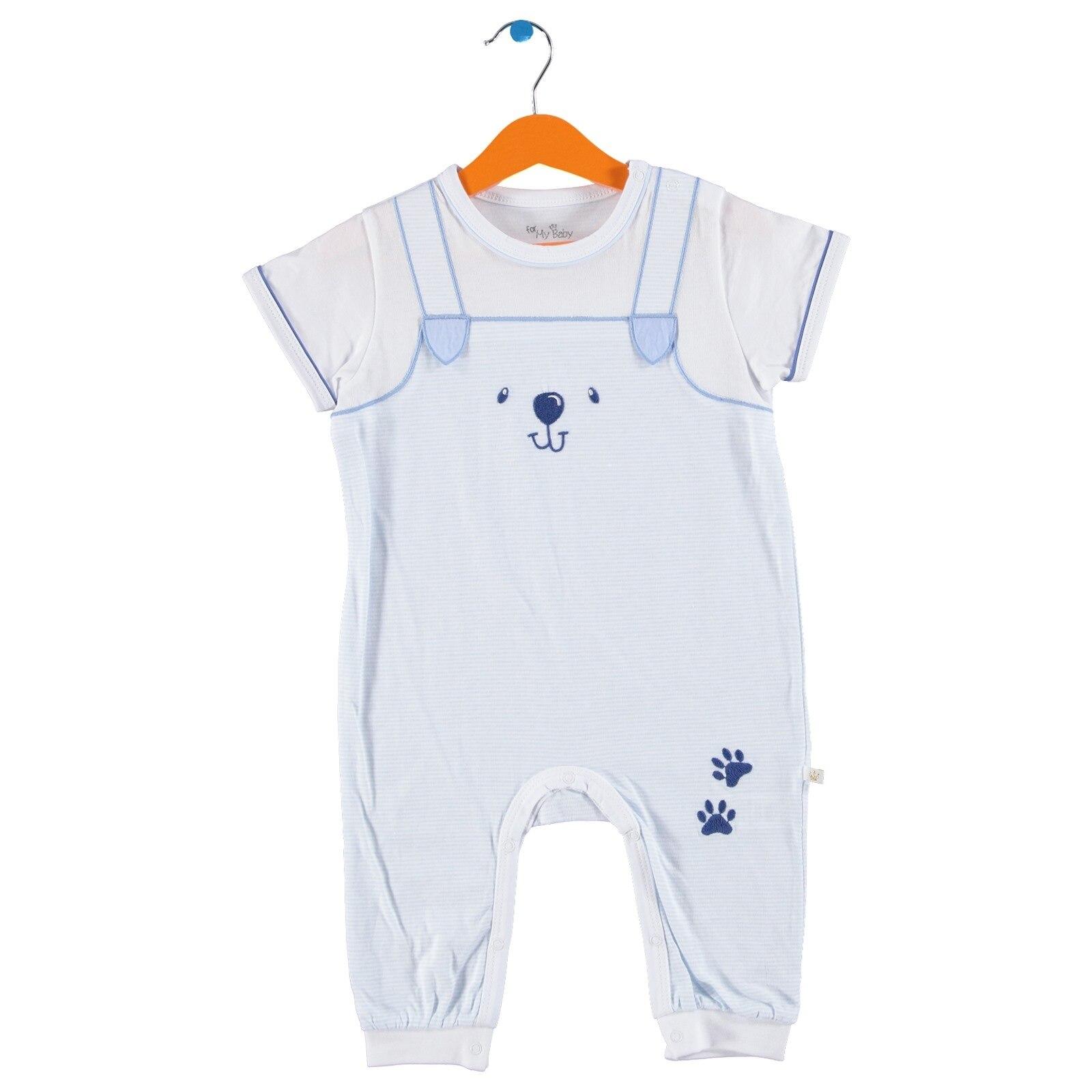 Ebebek For My Baby Boy Tomtom Polo Neck Short Romper