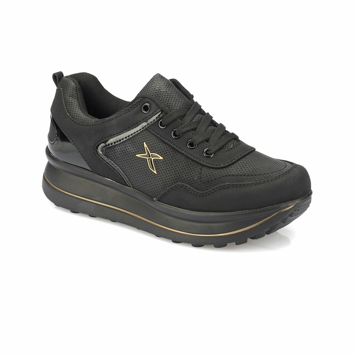 FLO GABY W Black Women 'S Sneaker Shoes KINETIX