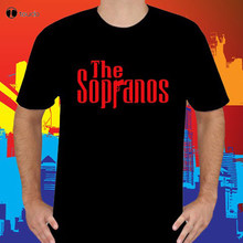 Novo the sopranos crime drama tv programa masculino preto camiseta tamanho s a 3xl