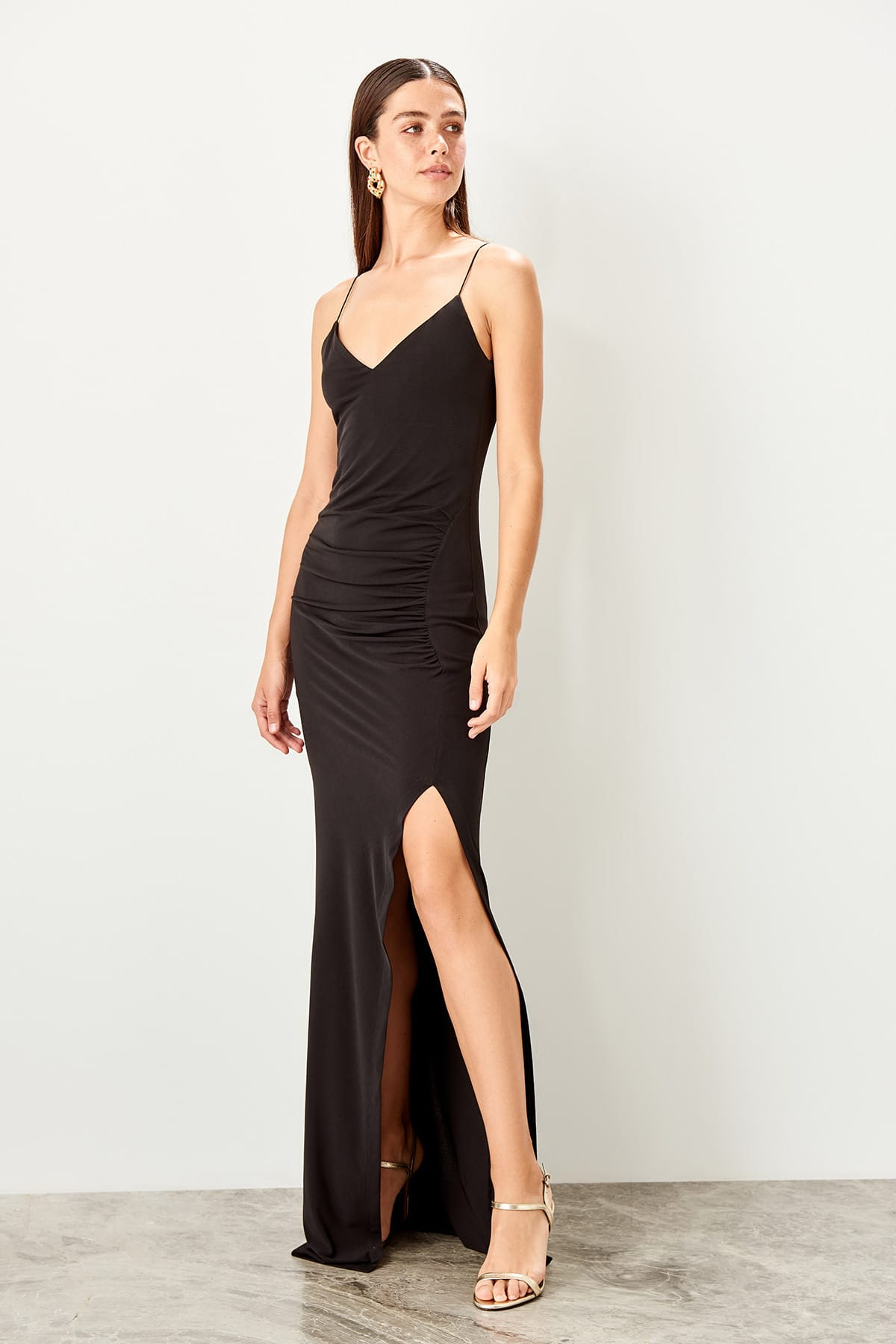 Trendyol Shir Detailed Evening Dress TPRSS19BB0354