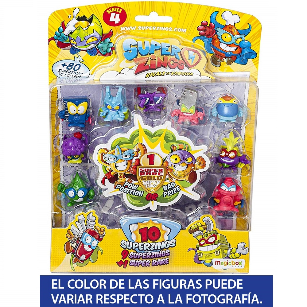 SuperZings Series 4-10 Blister Card Figures Collectibles