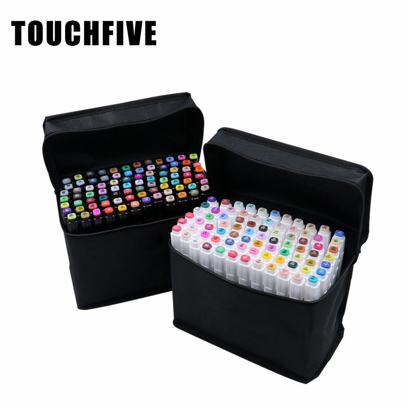 Touchfive Markers For Drawing 12/24/30/40/60/80/168 Colors Colors Dual Brush Tip Art Markers Professional Anima Alcohol Marker