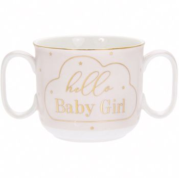 Mug with 2 handles Hi baby 180 ml mug lefard 360 ml with pattern