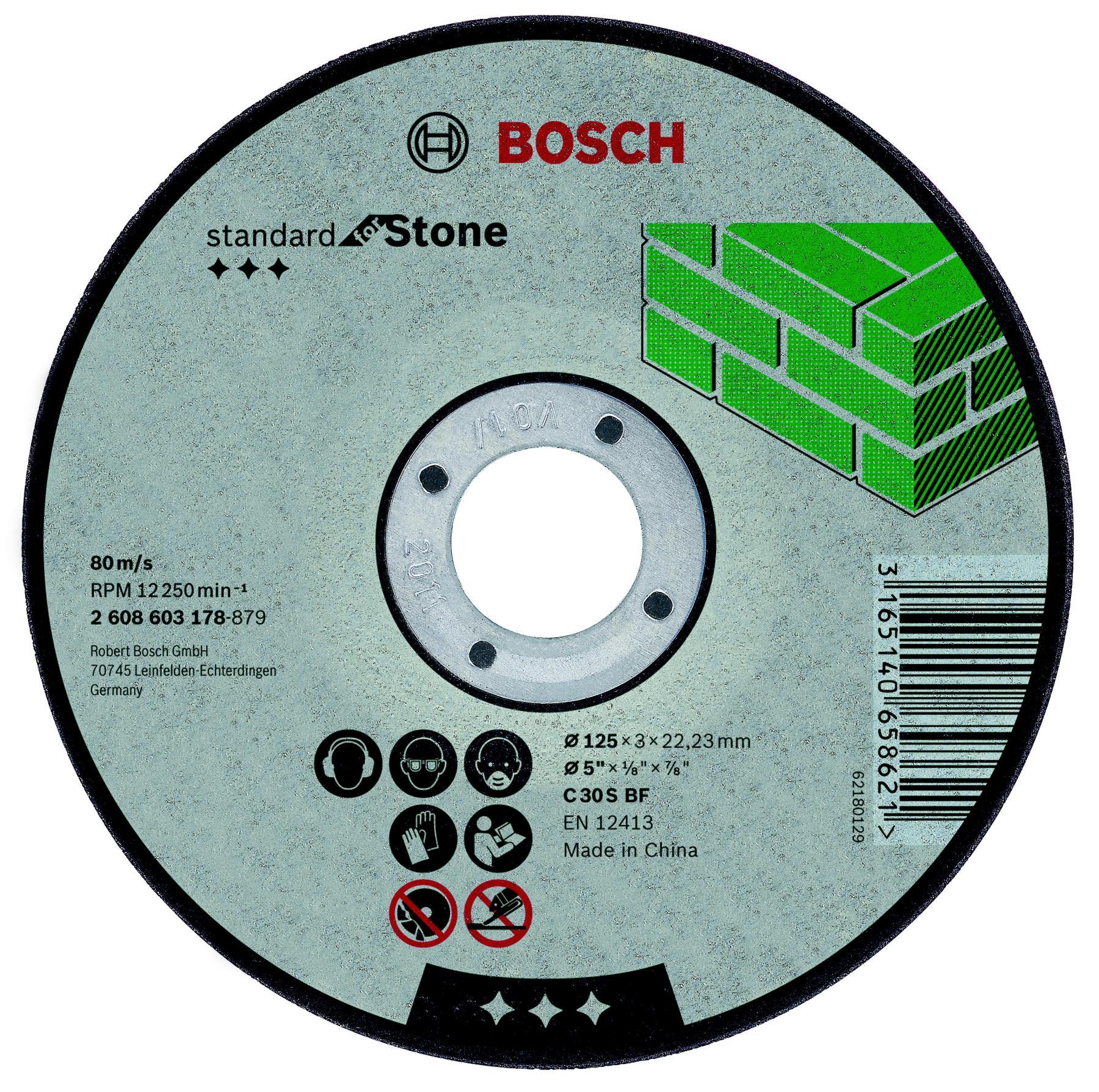 Circle Cutting BOSCH 125х3х22 Standard For Stone (2.608.603.178)