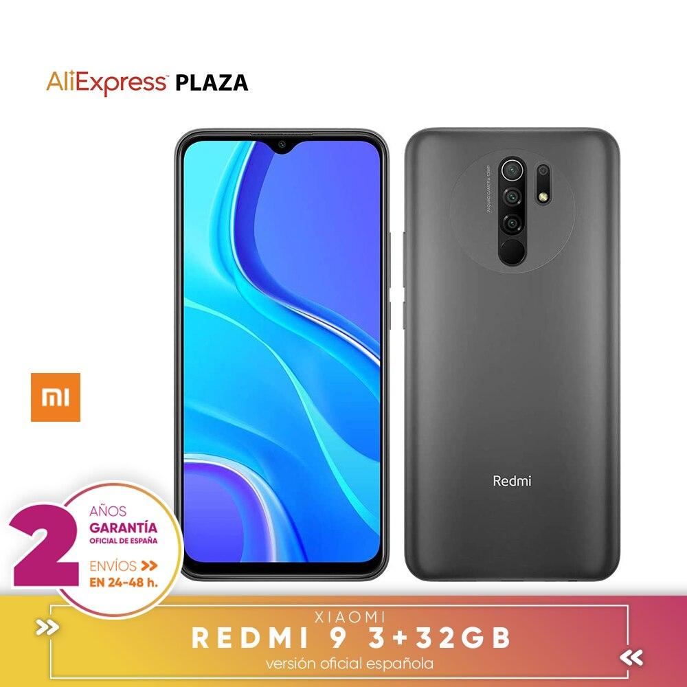 [Versão oficial em espanhol] xiaomi redmi 9 smartphone 3gb 32gb, 4gb 64gb fhd + 6.53