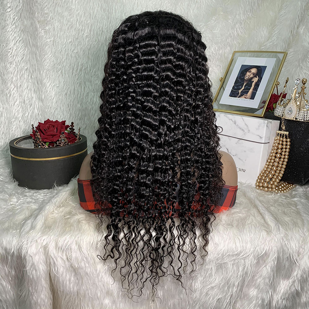 Onda profunda do cabelo humano 4*4 perucas