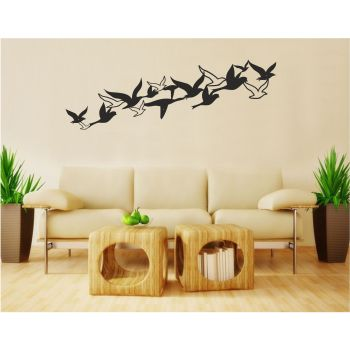 Metal Wall Art, Birds Decor, Housewarming Gift, Flock Art