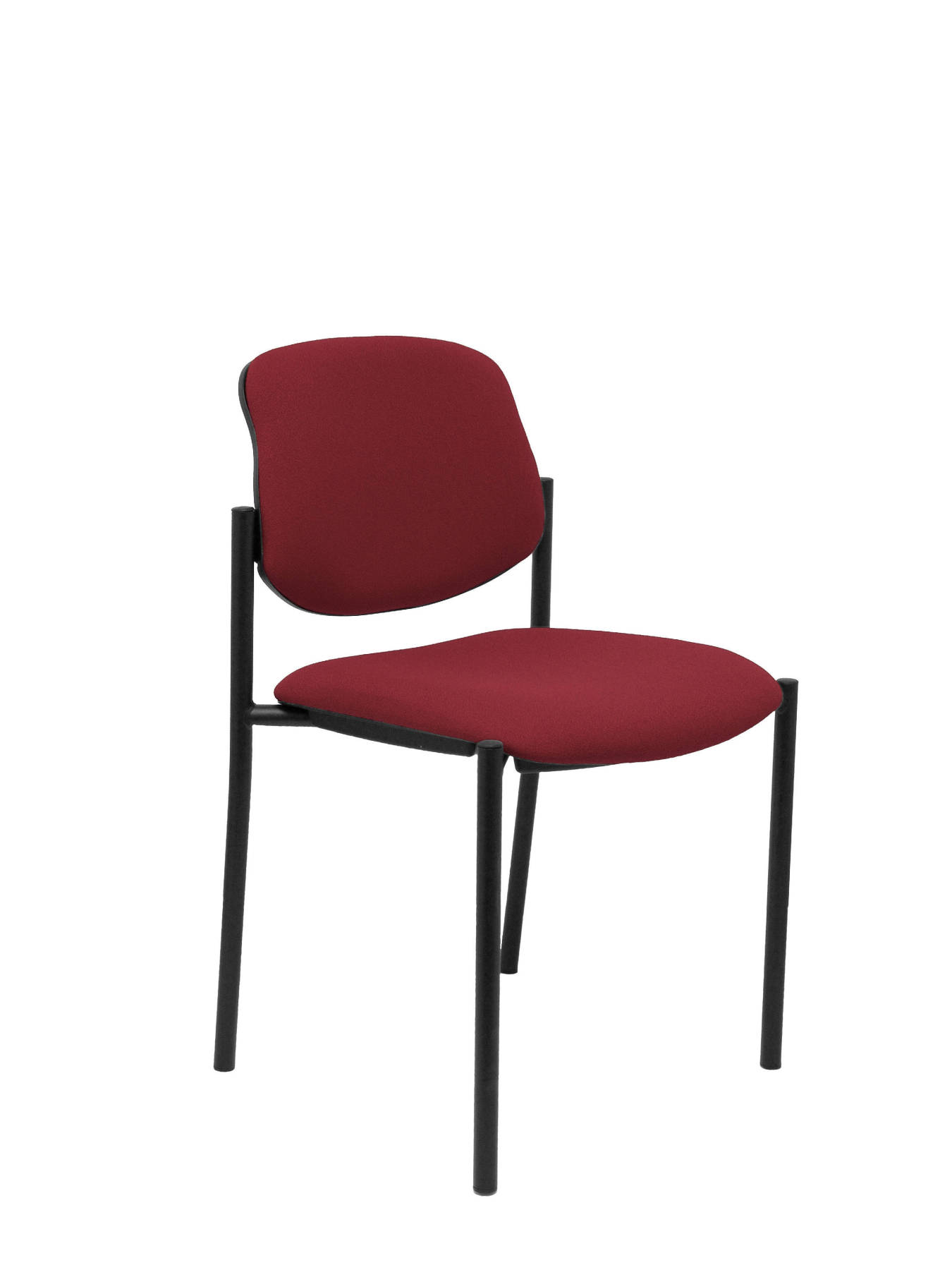 Visitor Chair 4's Topsy And Estructrua Negro-up Seat And Backstop Upholstered In BALI Tissue Maroon Color TAPHOLE AND CR