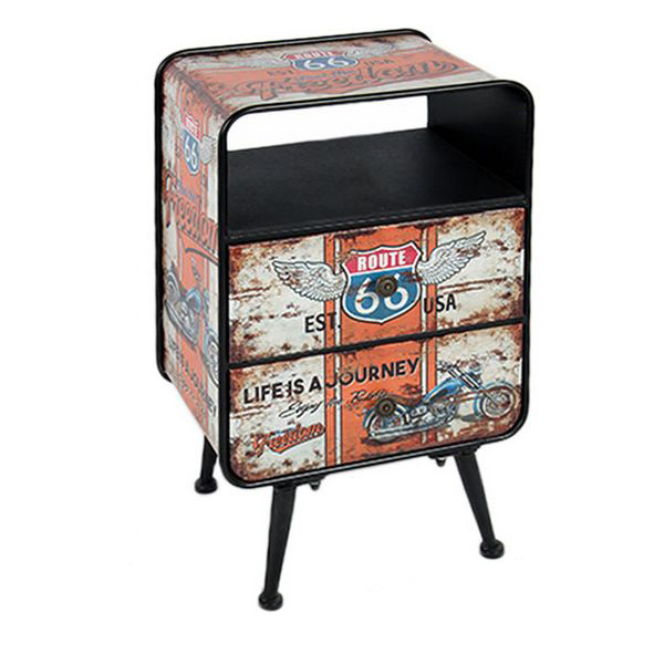 Side Table Route 66 116909 Retro White (65 X 40 X 30 Cm)