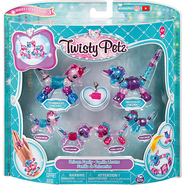 Set Toy Jewelry Twisty Pets Family Unicorns