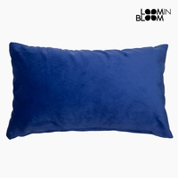 Cushion Velvet (30 x 50 x 10 cm) Polyester Blue|Neck Pillow|Automobiles & Motorcycles -