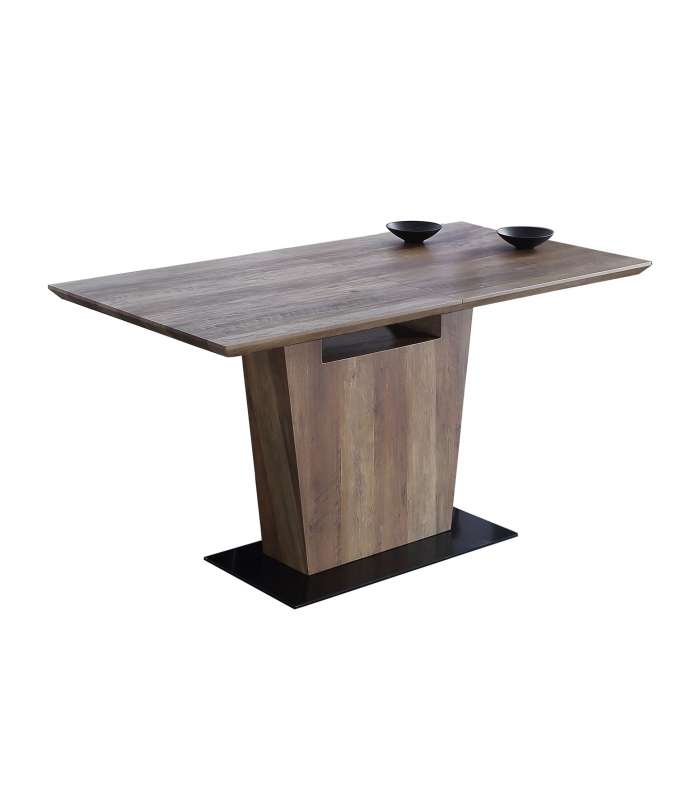 Dining Table Century Extendable Walnut/black.