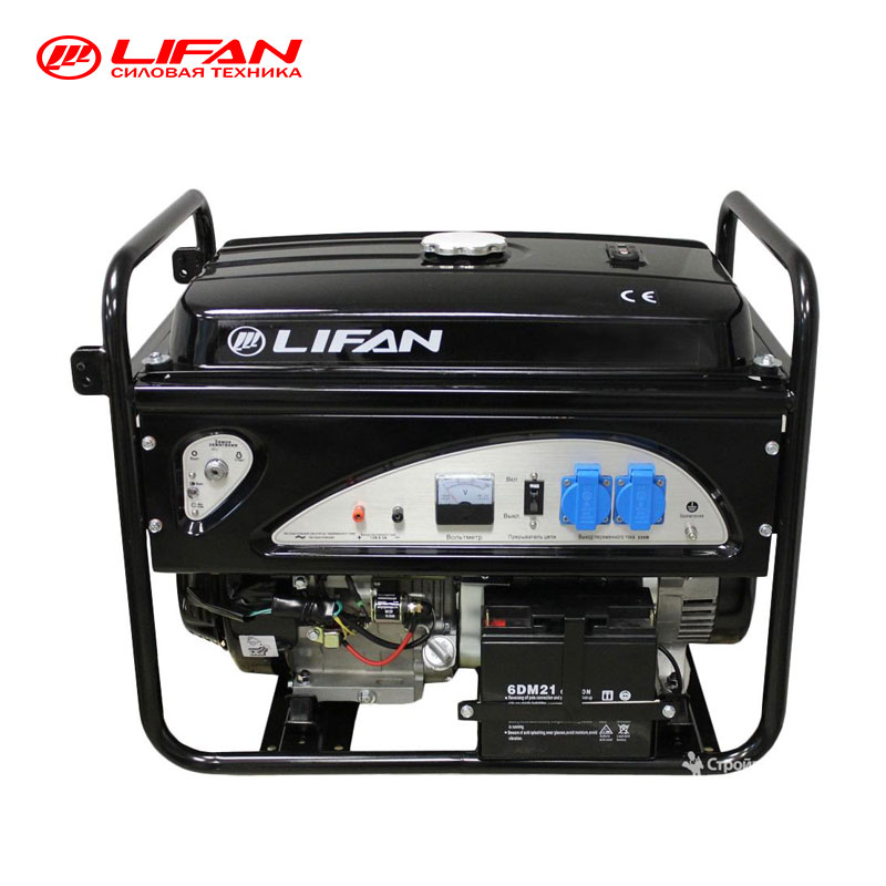 Gasoline Generator LIFAN (5GF-5A), 5500 W, Power home appliances  backup  emergency source of electric power