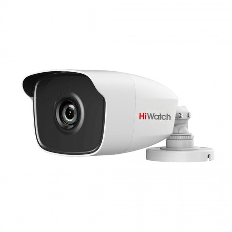 HiWatch DS-T120 - уличная HD-TVI видеокамера 1Мп (720p), 2.8/3.6/6мм, 0.01 Лк, ИК до 40м, HD-TVI/CVBS, IP66, -40°С +60°С; 12В DC