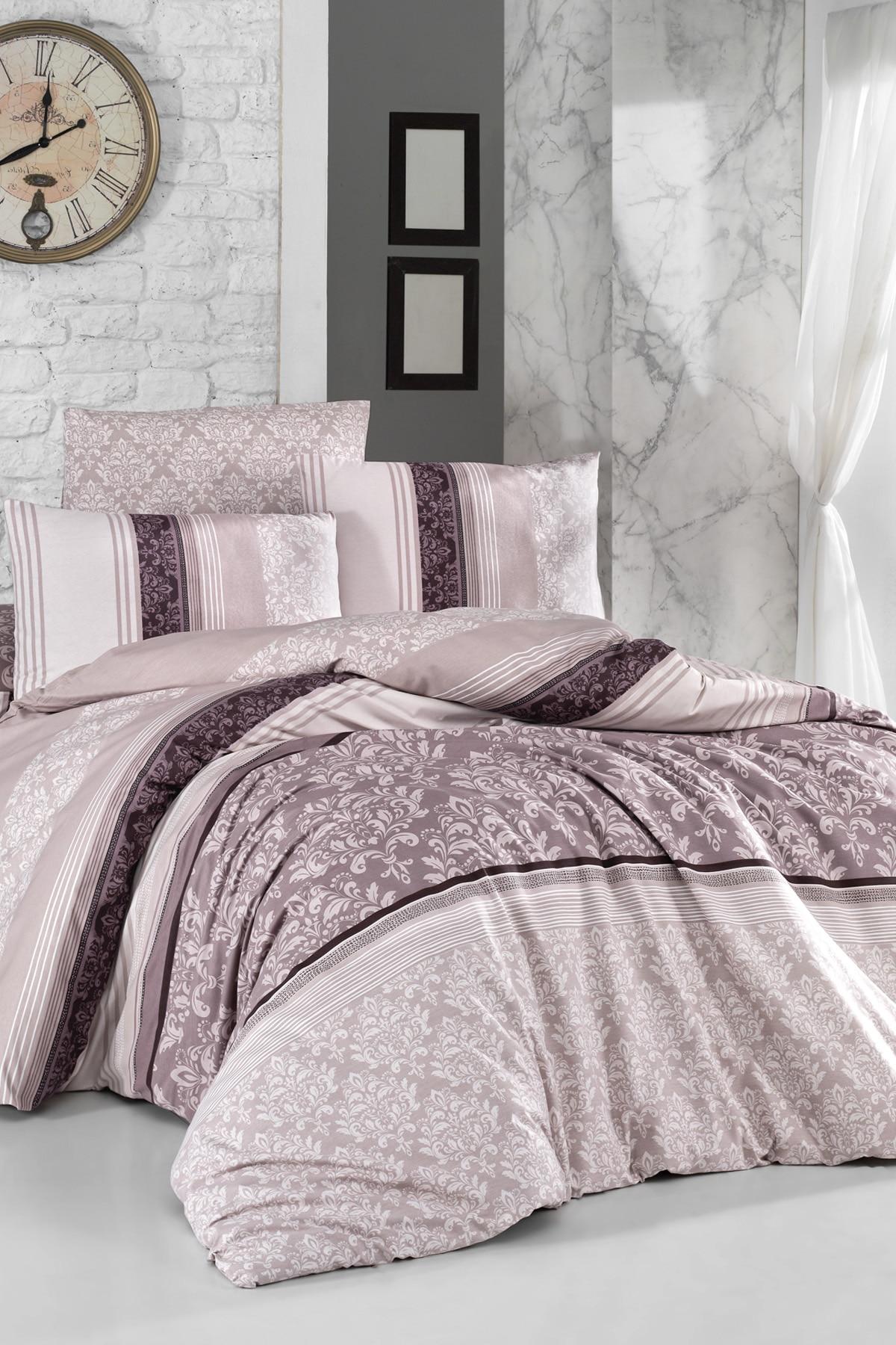 Lady Moda Bed Linen Set Aura Luxury Ranforce Bedding Set Twin/Full/Queen/King Size 3/4/5 Pcs Duvet Cover Set From Turkey