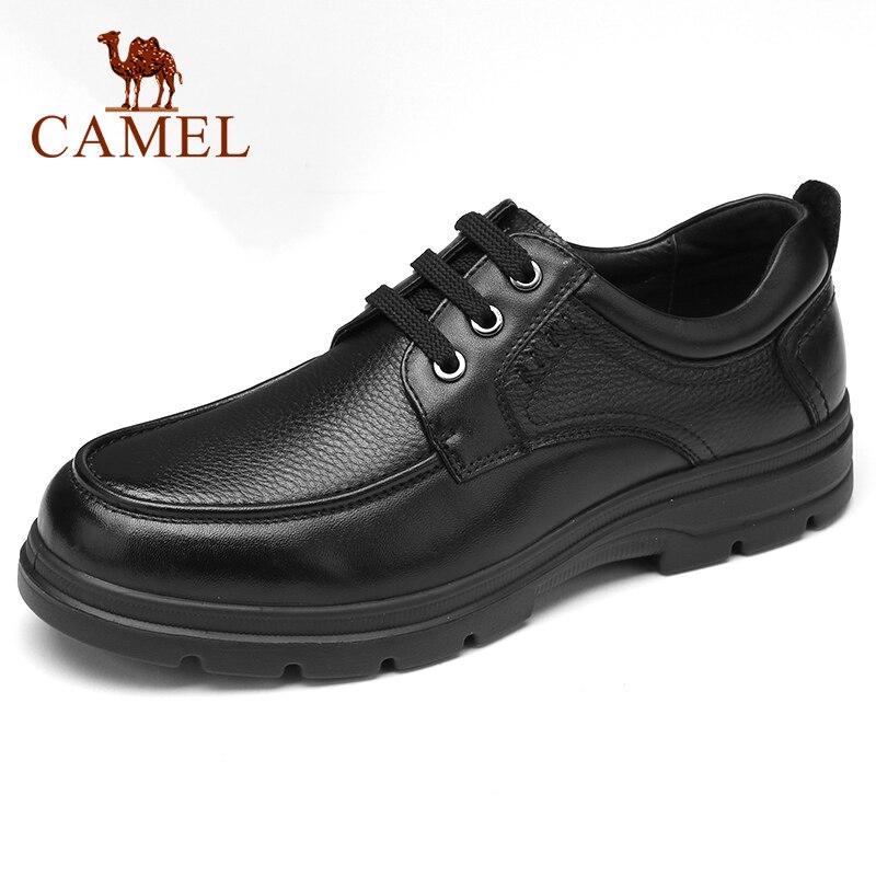 CAMEL hommes chaussures affaires décontracté en cuir véritable chaussures confortable cravate bureau papa chaussures haute élastique antidérapant