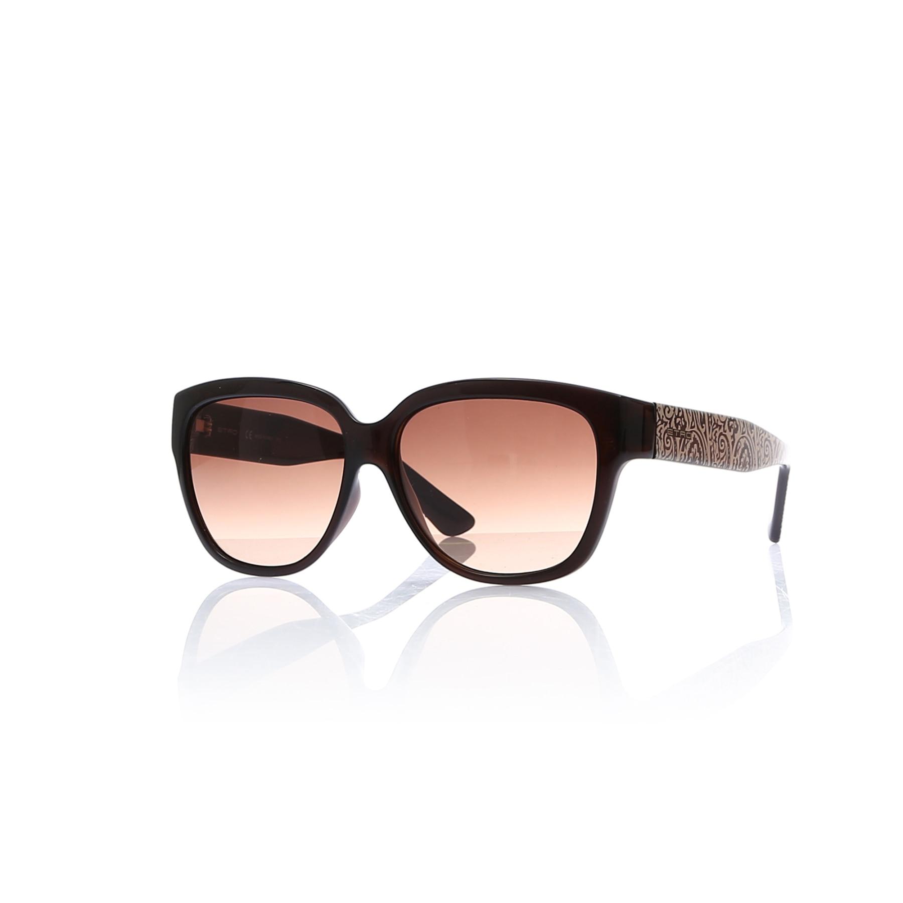 Women's sunglasses etr 606 210 bone Brown organic square square 57-14-135 etro