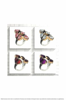 Natural Stone Authentic Women 'S Silver Ring