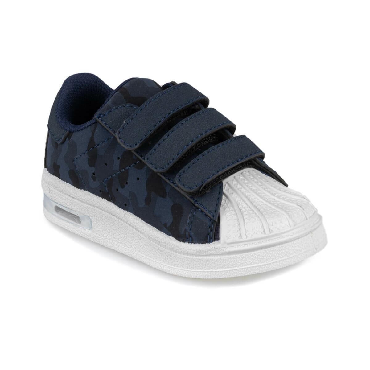 FLO MONTY CAMO 9PR Navy Blue Male Child Sneaker Shoes KINETIX