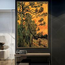 Картина винсента старый известный мастер художник сосновые деревья