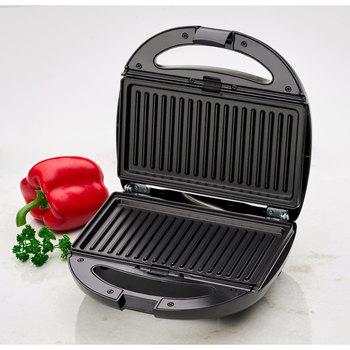 Clatronic ST 3670 Sandwich interchangeable plates, Sandwich toaster, waffle iron Belgian Waffle, Grill Iron machine meat fish 3
