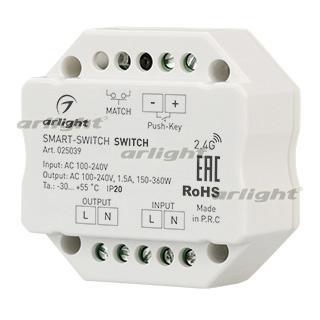 025039 Switch Smart-switch (230V, 1.5A, 2.4g) Arlight Box 1-piece