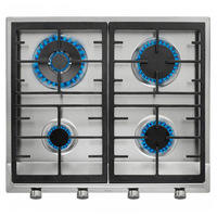 Gas Hob Teka EX60.1 4G 60 cm 60 cm Stainless steel Black (4 Stoves)