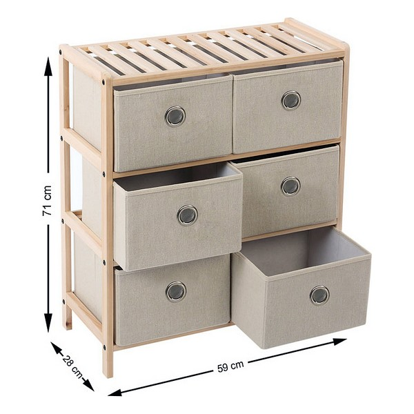 Wooden Chest of Drawers (6 Drawers) 110020|Foldable Storage Bags| |  - title=