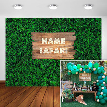 Jungle Safari Theme Party Backdrop Green Grass Nature Outdoorsy Garland Long for Kids Boys Baby Shower Photography Background