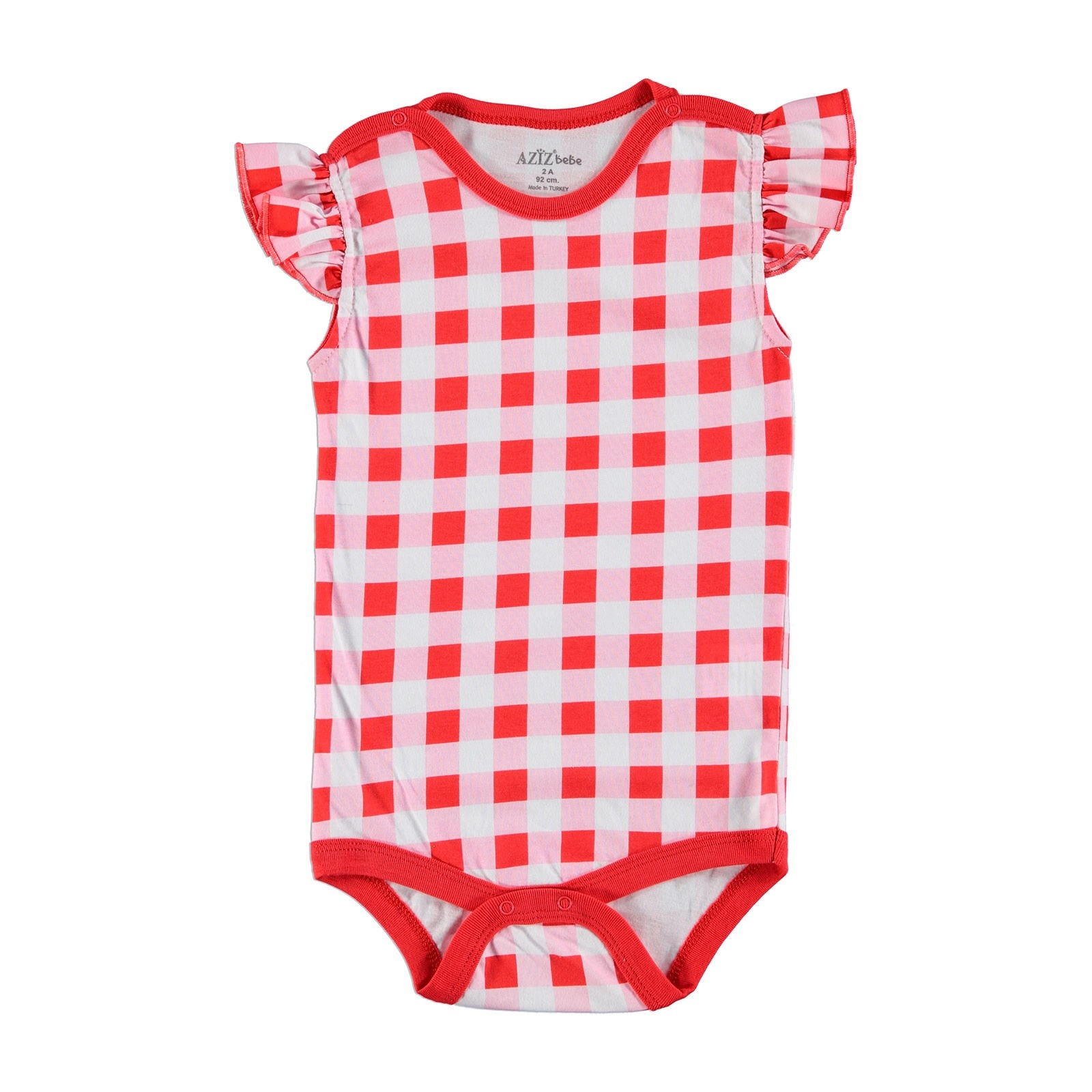 Ebebek Aziz Bebe Baby Girl Summer Short Sleeve Bodysuit
