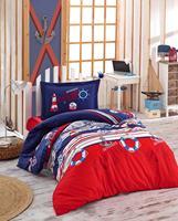 Cotton bedding set kids boys mariner single bedspread bed sheet duvet cover sets pillowcase bedding kids quilt cover bed linen