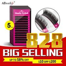 5cases set,ABNATHY high quality mink eyelash extension,fake eyelash extension,individual eyelashes,nature eyelashes