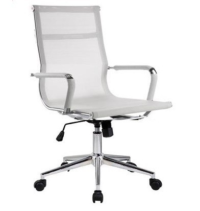 Office Armchair EGER, Rotatable, Gas, Tilt, White Mesh