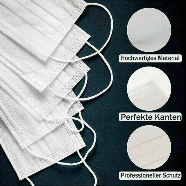 10pcs Children 3-Ply Disposable White Face Masks  Anti Dust Mouth Masks 3 Layers Anti-Flu Kids Boys Girls Ear Loop 1