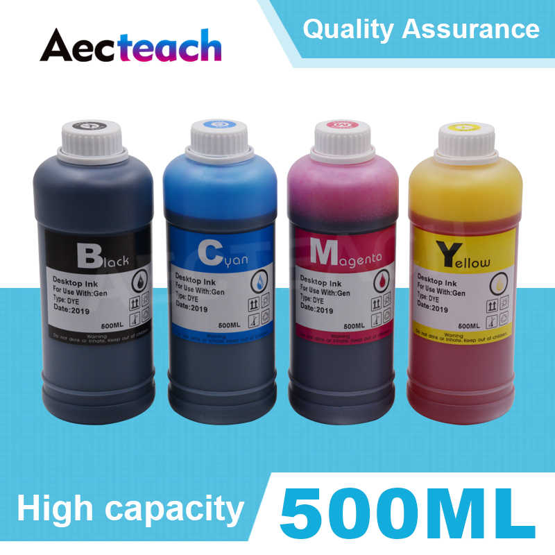 Aecteach 500 Ml Printer Pewarna Tinta Isi Ulang Kit untuk HP 123 122 121 302 304 301 300 650 652 21 22 140 141 901 350 351 XL Cartridge
