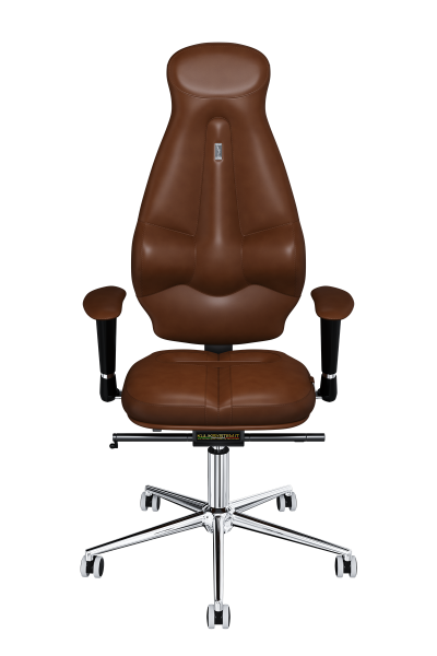 Office Chair KULIK SYSTEM GALAXY Brown Computer Chair Relief And Comfort For The Back 5 Zones Control Spine