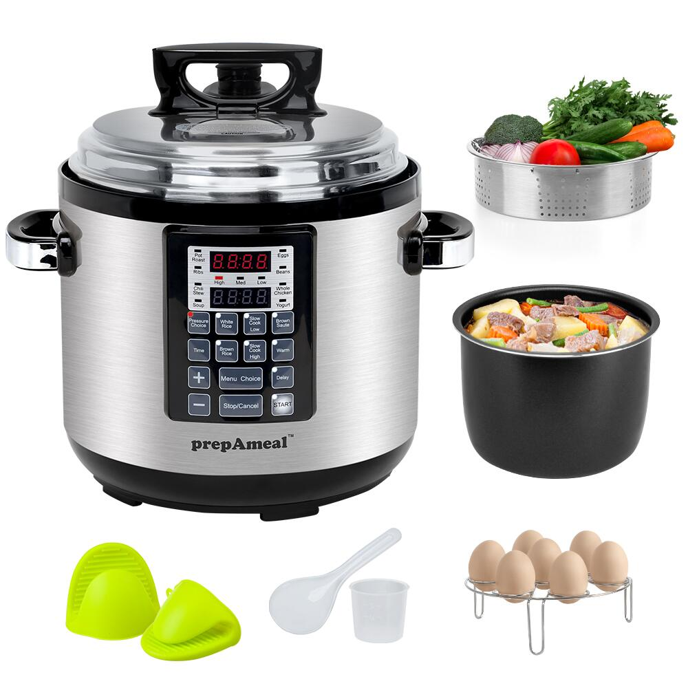 6 Qt Electric Pressure Cooker 10-in-1 Multi-Use Programmable Pressure Cooker Rice  Stew Soup Porridge Cake Maker