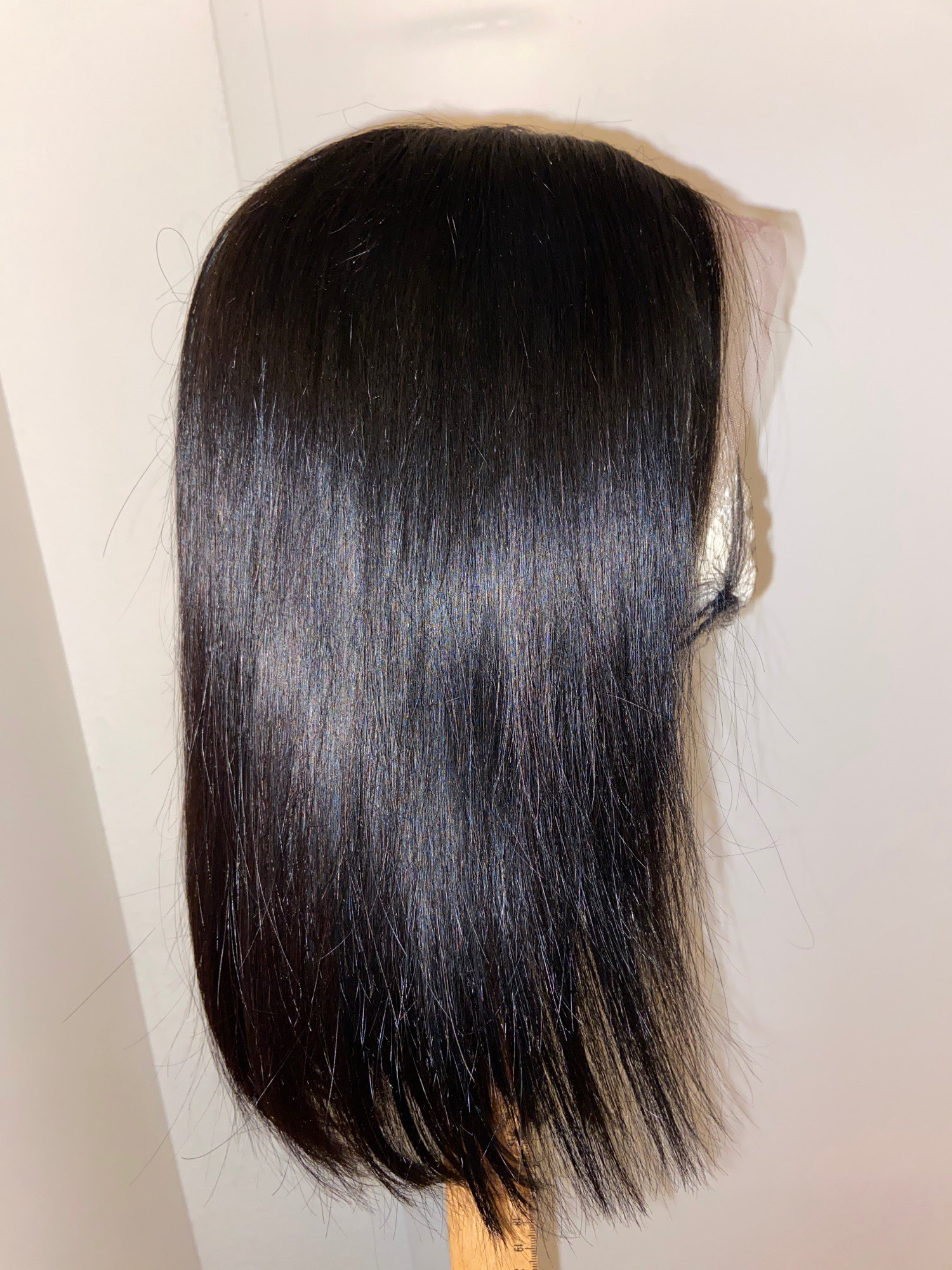 Blunt Cut Bob Wig Brazilian Lace Front Human Hair Wigs Straight Bob Wig For Black Women Remy Lace Closure Wig With Baby Hair photo review