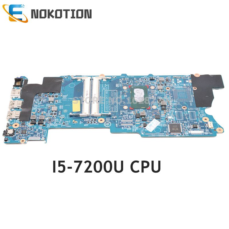 NOKOTION 863887-601 863887-001 863887-501 For HP Envy X360 15-BK 15-W 15T-W M6-W Laptop Motherboard 448.06202.0021 I5-7200U CPU