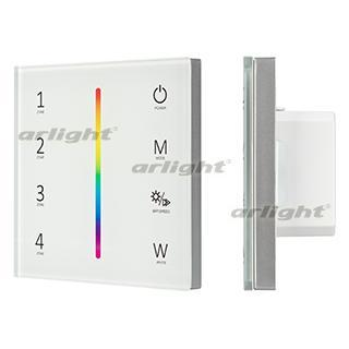 028140 panel sens smart-p45-rgbw White (230 V, 4 zones, 2.4g) Arlight 1-piece